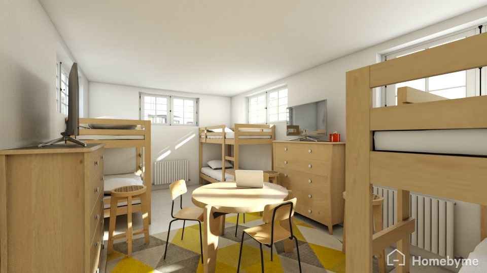 The kids get a big room all to themselves - and their own bathroom too